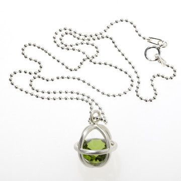 Kitty Toy Necklace Peridot by Karin Jacobson