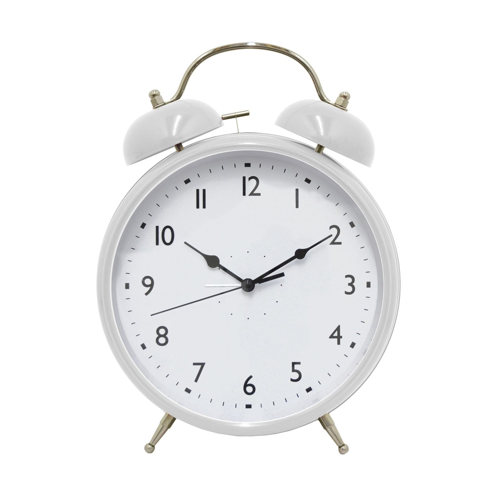 Old Style White Alarm Clock Objetos
