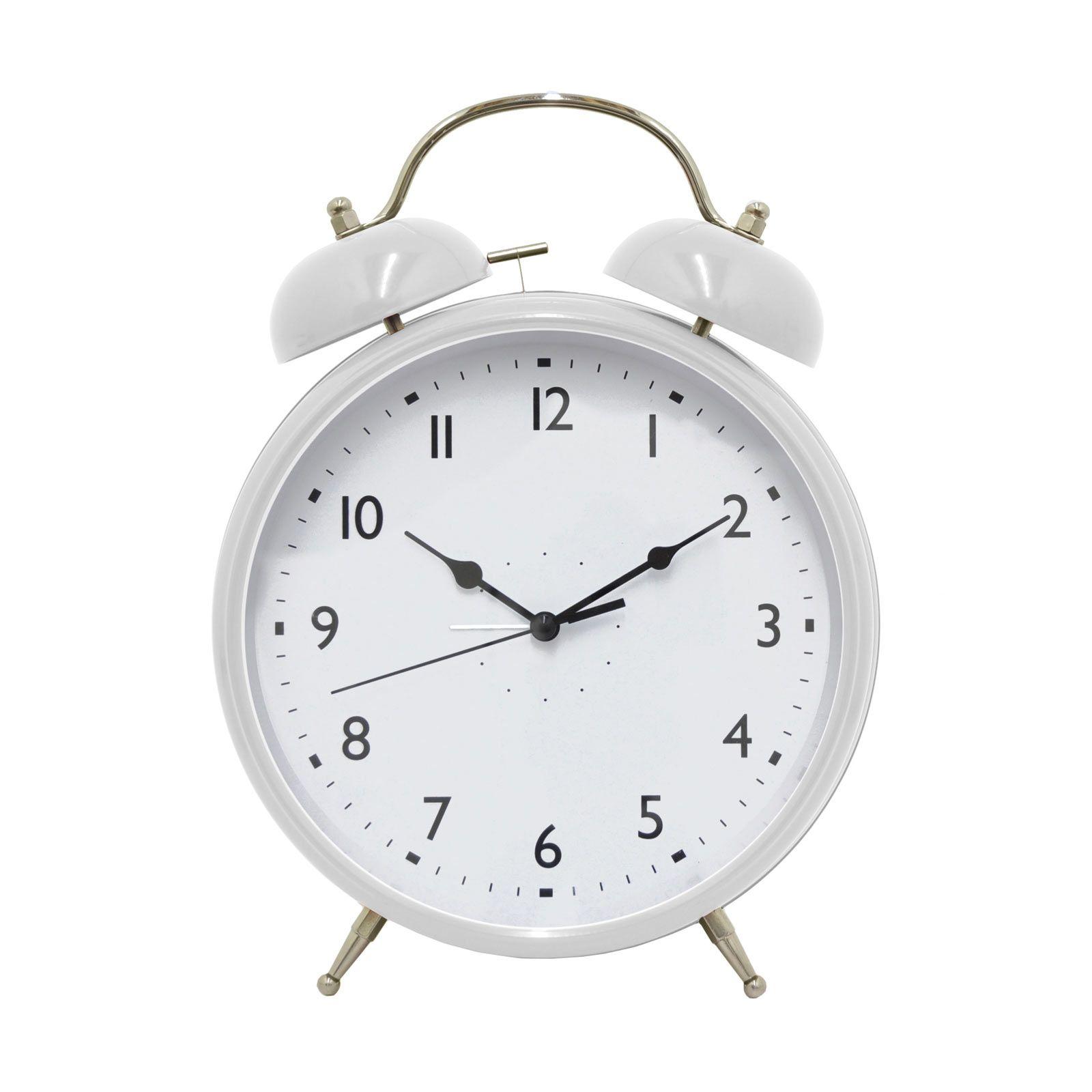Old Style White Alarm Clock 시계 아이콘