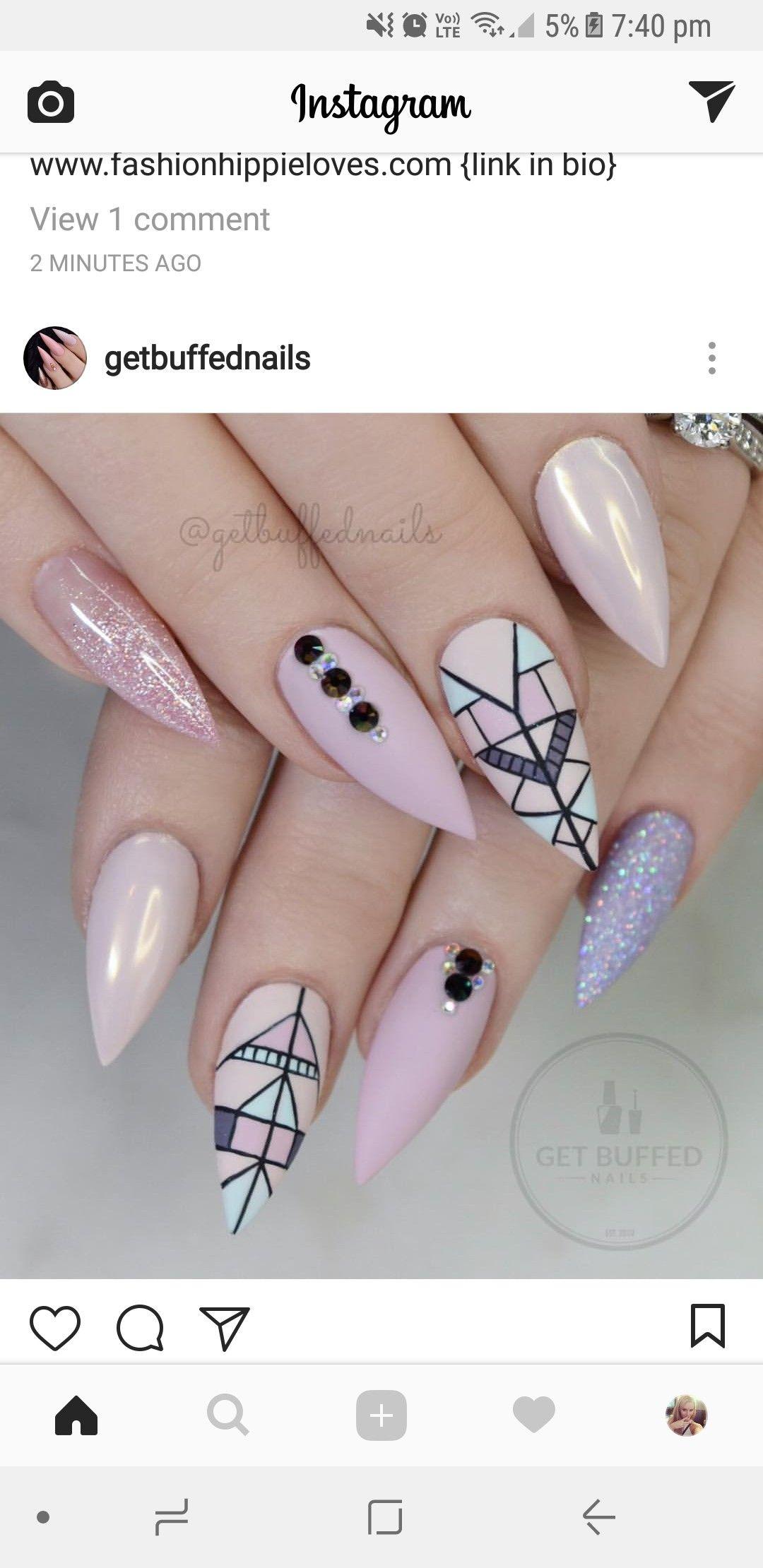 Pin de Jazmeen Navarro en Nails | Pinterest | Diseños de uñas, Arte ...