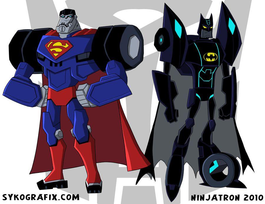 048698fa7f06b transformers ninja   Superman Batman Transformers by *ninjatron on  deviantART
