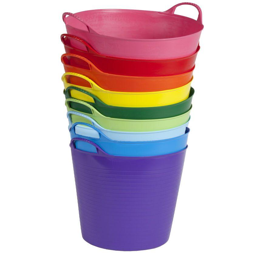 Colorful tubtrug 7 gallon colorful garden garden tub