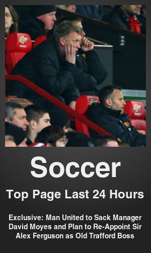 Top Soccer link on telezkope.com. With a score of 211. --- Exclusive: Man United to Sack Manager David Moyes and Plan to Re-Appoint Sir Alex Ferguson as Old Trafford Boss. --- #soccerontelezkope --- Brought to you by telezkope.com - socially ranked goodness