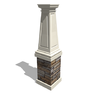 Columns With Stone Or Brick Probably Not Be Angled