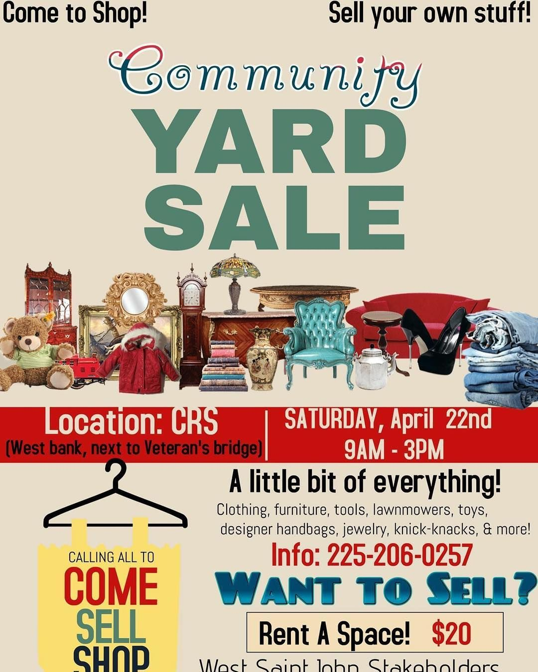 Community Yard Sale in New Orleans Plantation Country tomorrow from ...