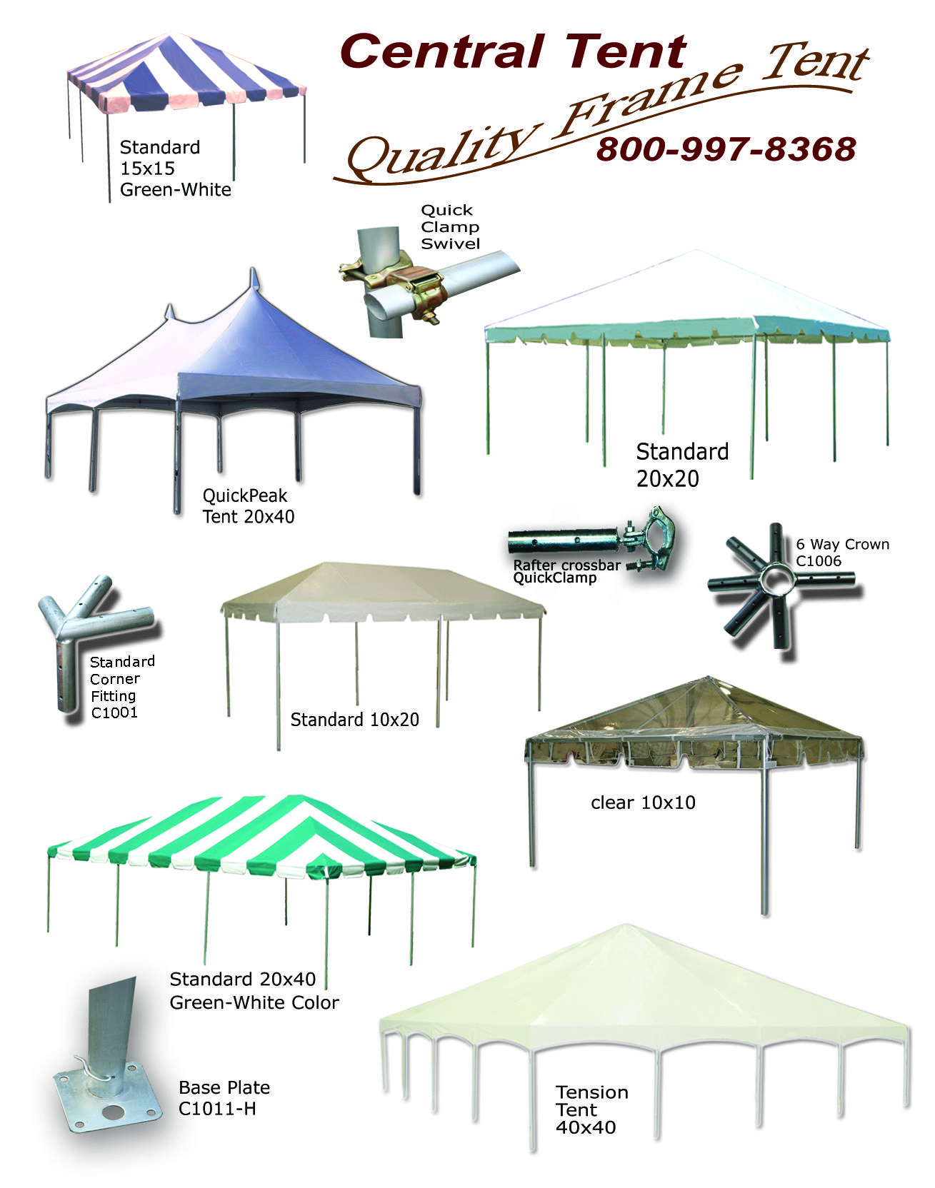 A variety of of Frame tents and parts. #tent #parts #variety #frame ...