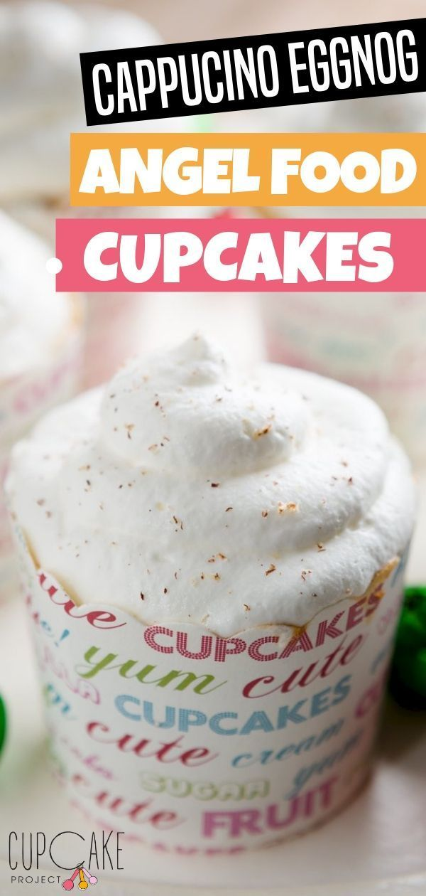 Heavenly Angel Food Cupcakes Cupcake Project Recipe Angel Food Cupcakes Angel Food Fun Cupcake Recipes