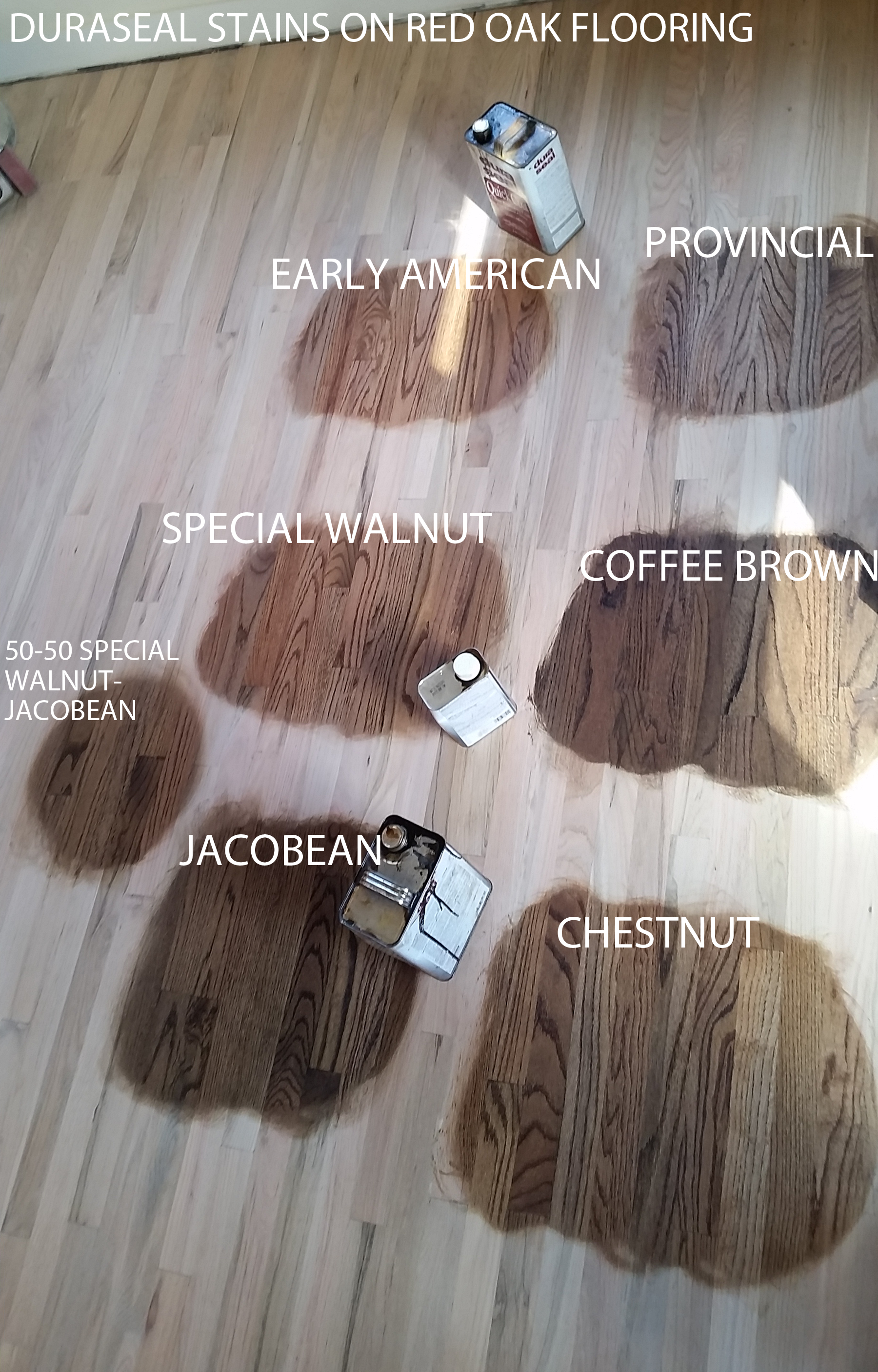 Duraseal Stain On Red Oak Wood Flooring