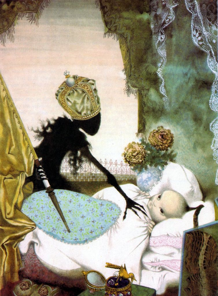456552e5563 Illustration for Hans Christian Andersen's The Nightingale by Jiří Trnka.  via ajourneyroundmyskull. Possibly the
