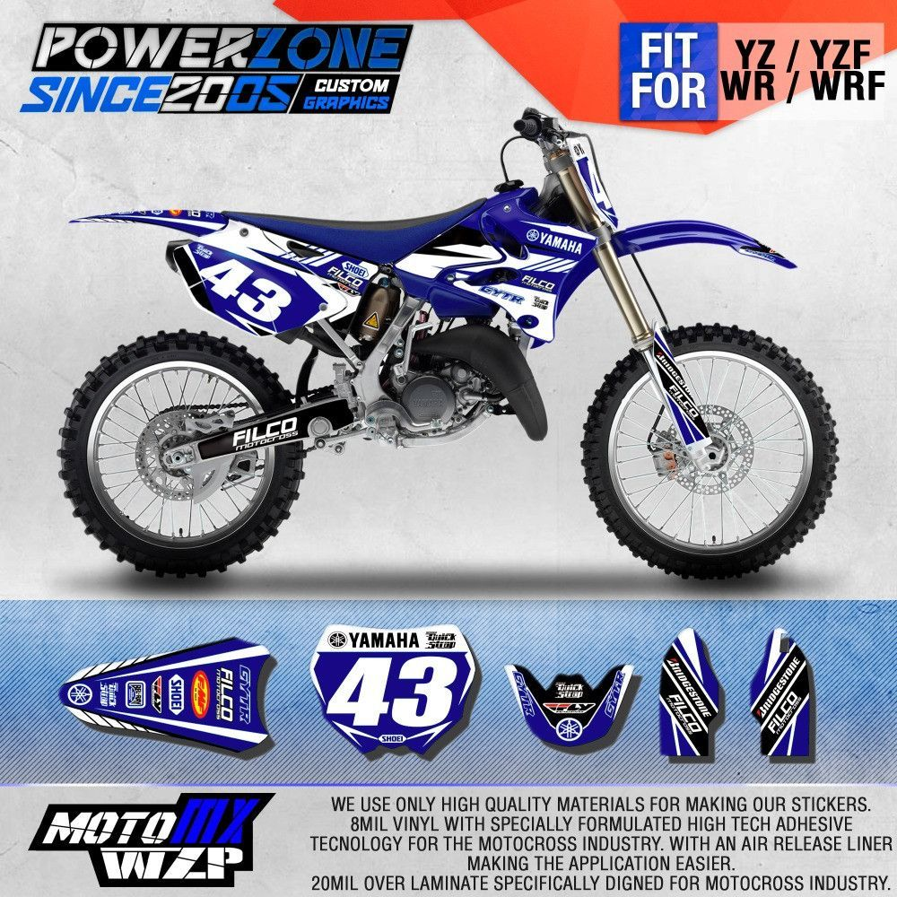 Custom Team Graphics Backgrounds Decals 3m Sticker For Yz Yzf X Wr