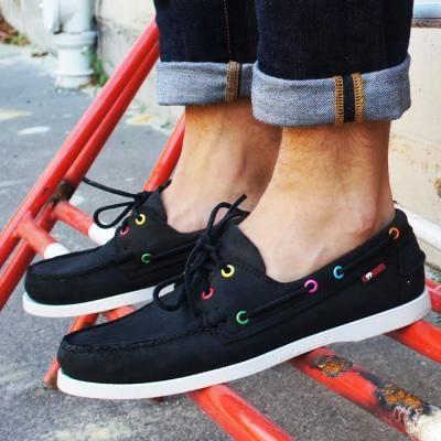 sebago | Black boat shoes, Clarks shoes