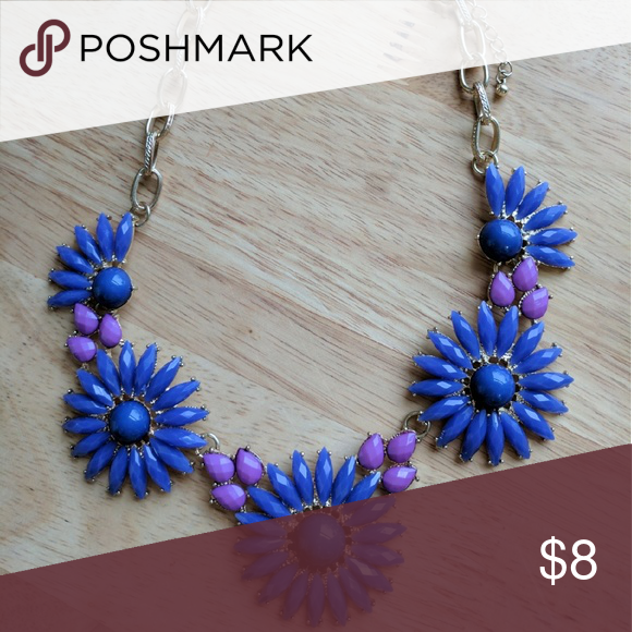 Statement Necklace Blue and purple statement necklace Jewelry Necklaces