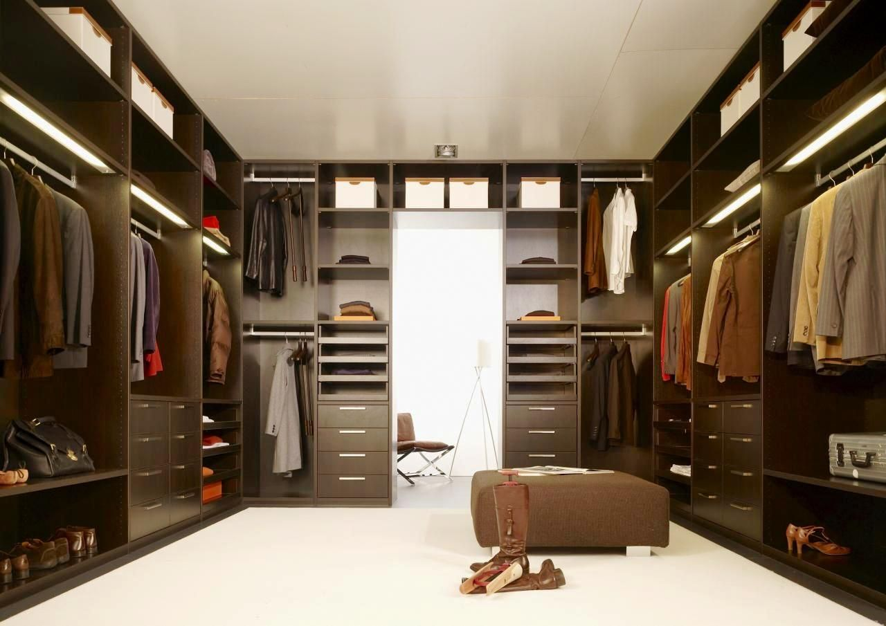 modern walk in closet ideas with best lighting and furniture set - tifbox