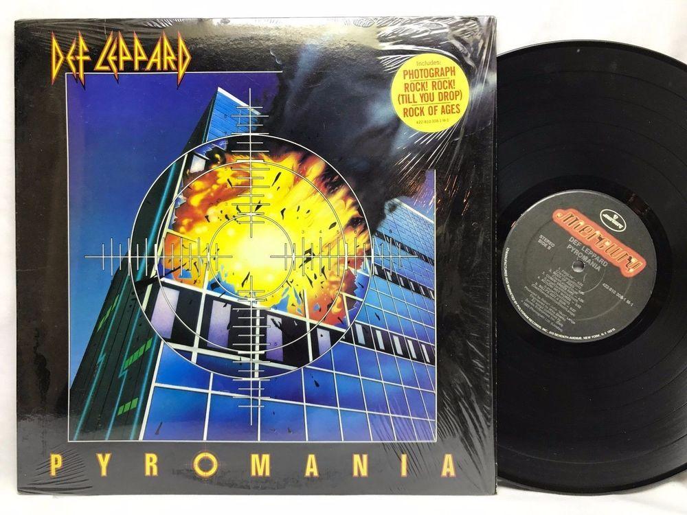 Def Leppard Pyromania Mercury Original Us In Shrink Vinyl Records Lps Album Vinyl Records Vinyl Music Lp Albums