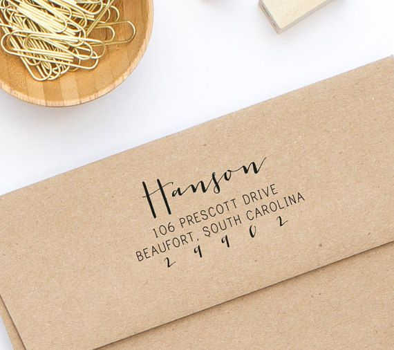 Return Address Stamp Wood Mounted Or Self Inking Wedding Invitation Personalized Gift For Her Style No 92