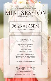 Session Reminder Email Photoshop Template  Templates