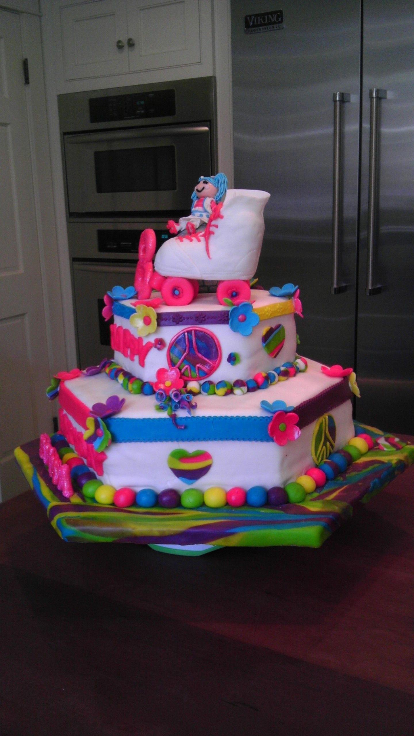 Roller skating rink westchester ny - Lalaloopsy Roller Skate Disco Party Theme Cake