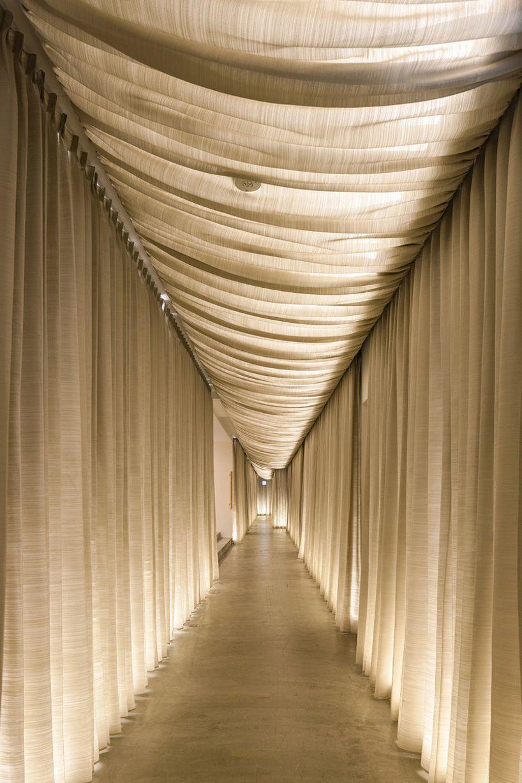 Kengo Kuma Transforms Japanese Nursing Home Into The We Hotel Toya Using Fabric And Wood Hotel Interiors Kengo Kuma Hotels Design