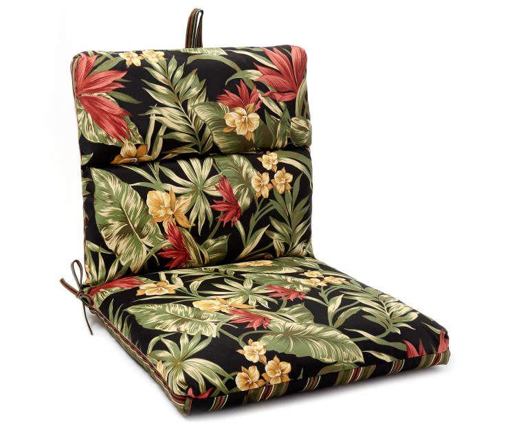 Elegant Sunset Tropical U0026 Stripe Reversible Outdoor Chair Cushion At Big Lots.