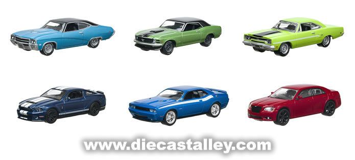 Die Cast Alley - GreenLight GL Muscle Series 7 1/64 - 6-Car Set, $27.99 (http://www.diecastalley.com/greenlight-gl-muscle-series-7-1-64-6-car-set/)