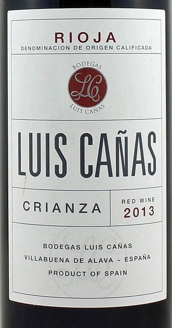 Luis Cañas Crianza 2013 Do Ca Rioja Bodegas Luis Cañas Vino Tinto Cn Crianza Envejecido Durante 12 Meses En Ba Bottle Label Design Bottle Labels Bottle