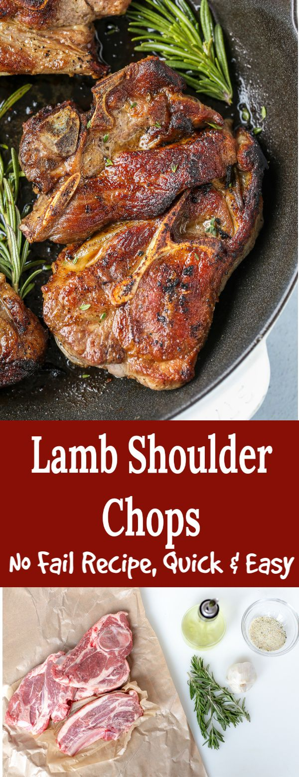 Lamb Shoulder Chops Easy Lamb Recipes Lamb Chop Recipes Lamb Dinner