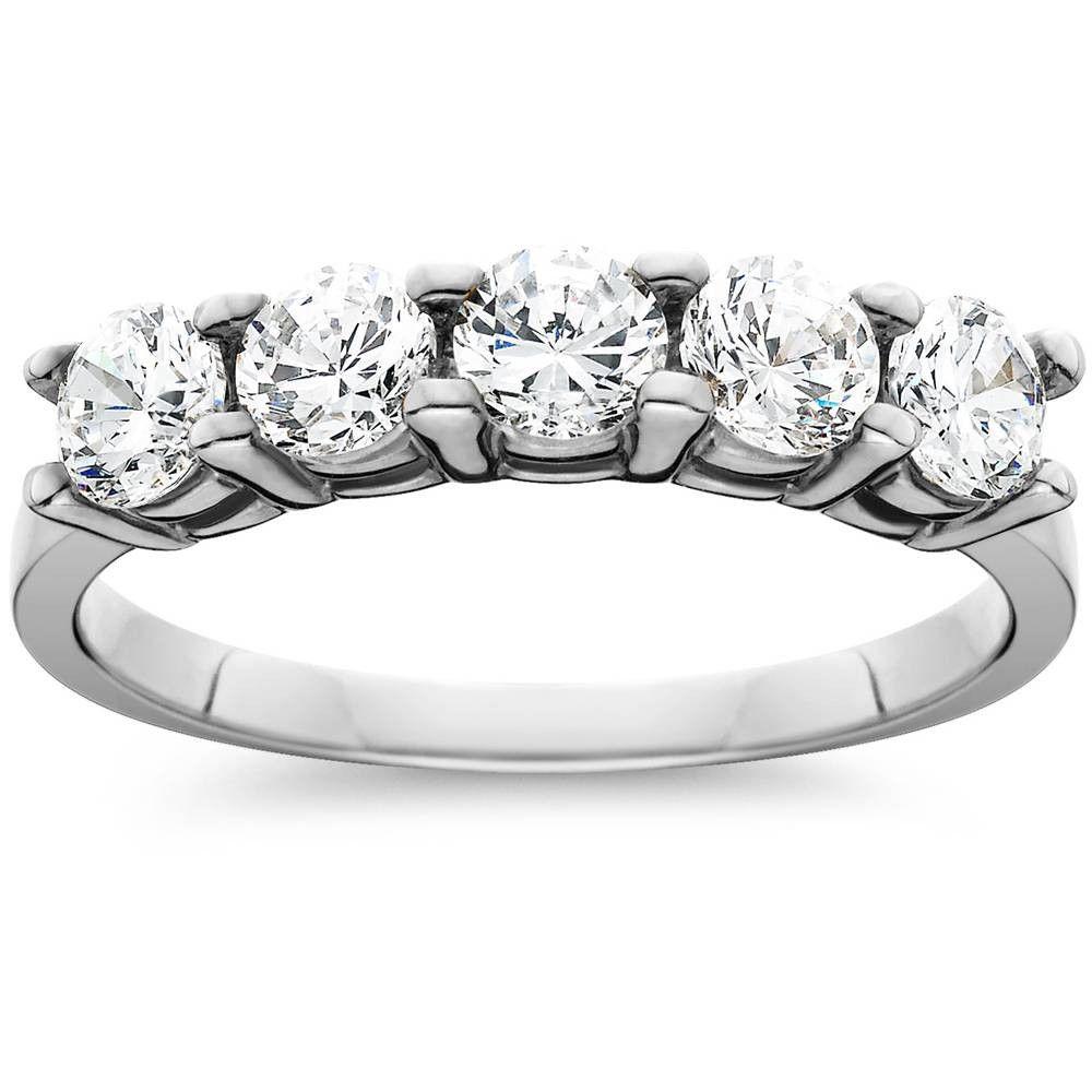 Pompeii3 1 1/4ct Diamond Wedding White Gold Anniversary New Ring - Size 7