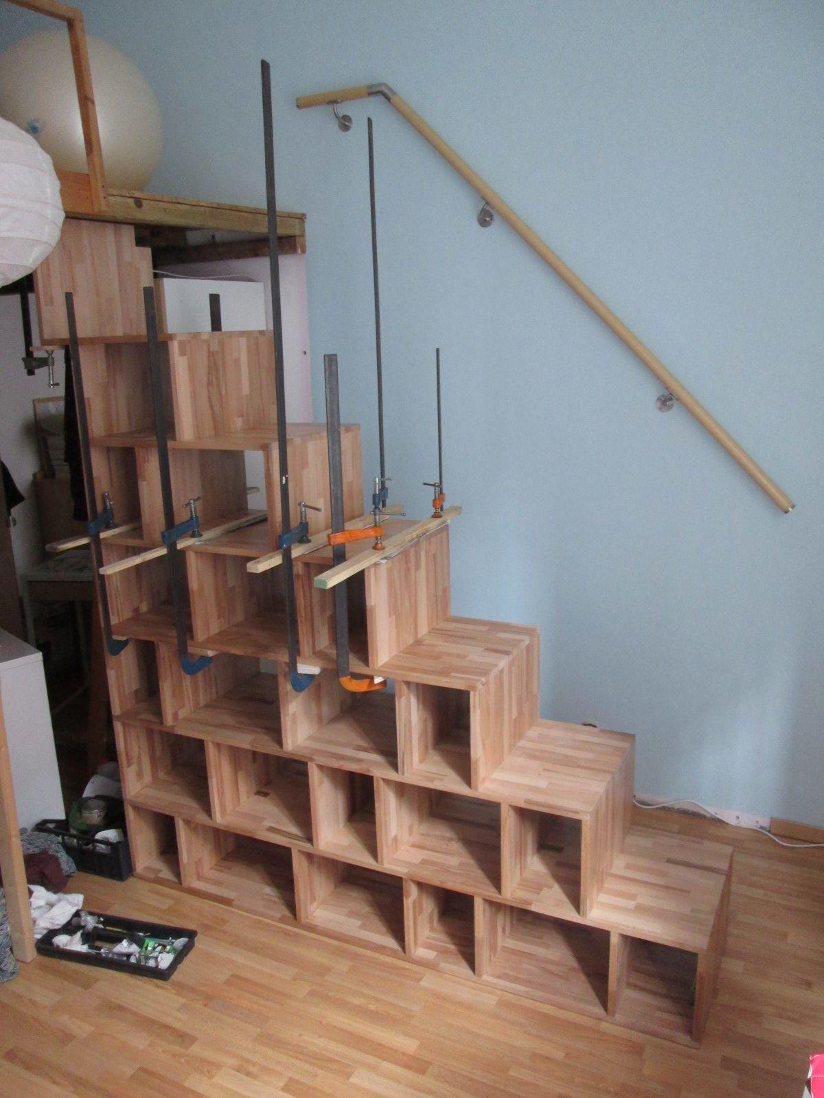Scala Per Libreria Ikea scala libreria in faggio massello | scale, soppalco, letto a
