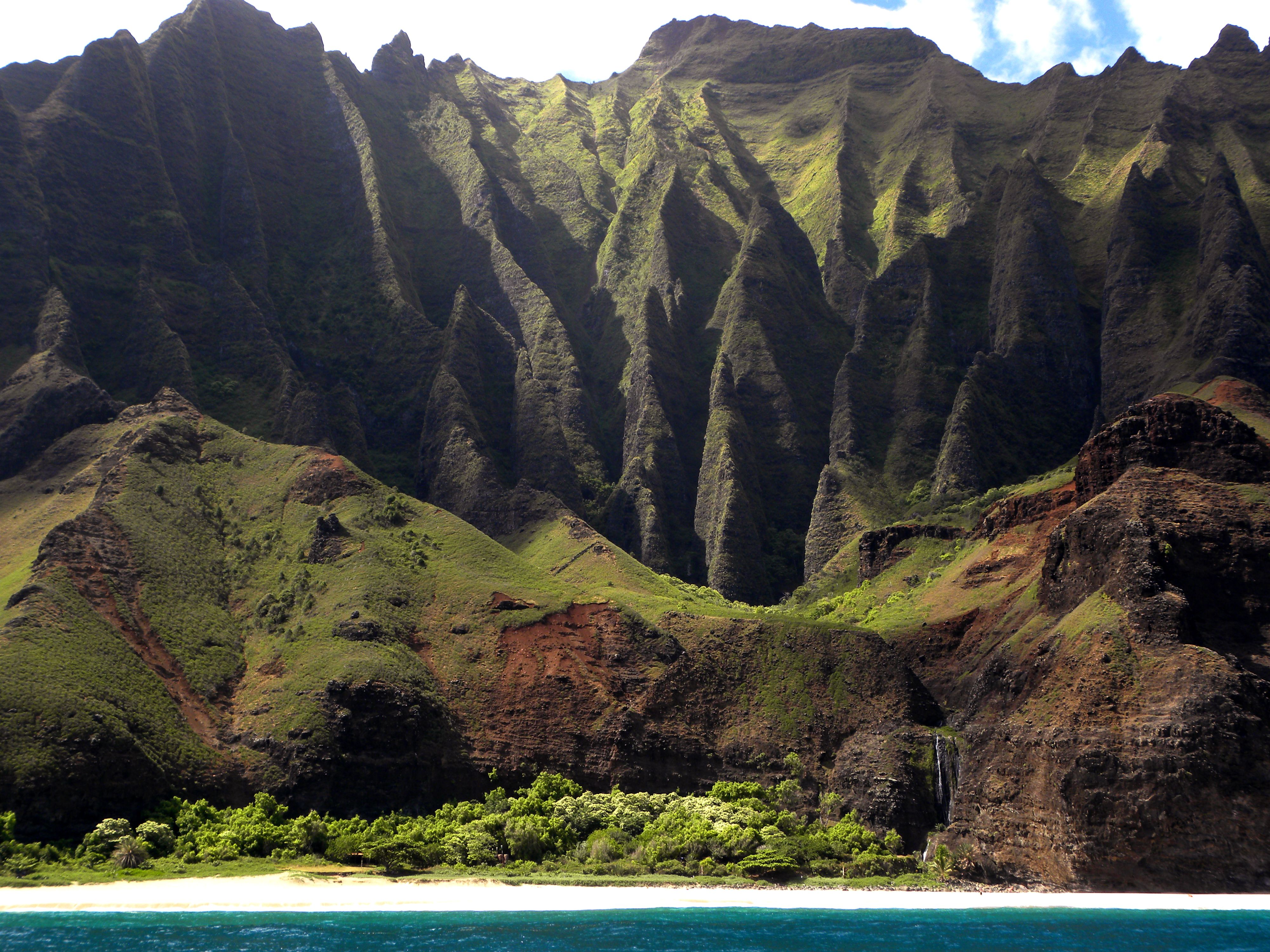 Nature's own carved cathedrals Napoli Coast, Kauai