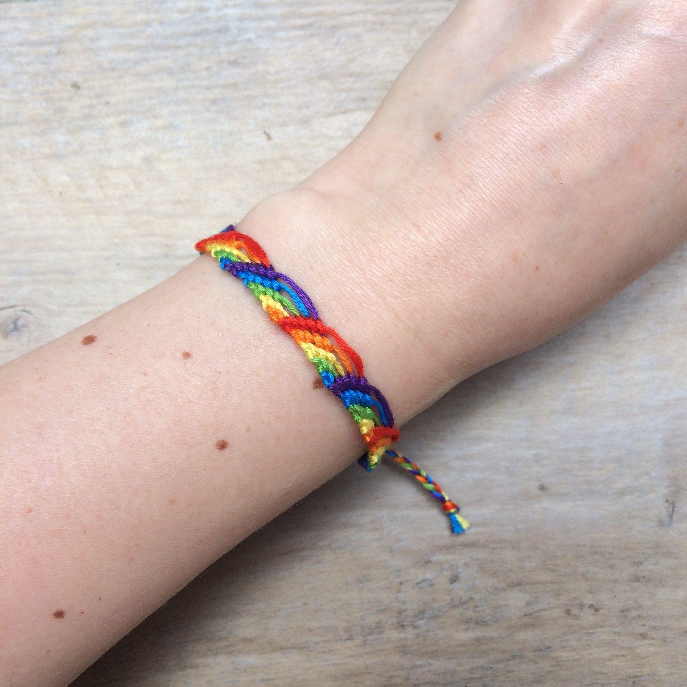 64eacb53f654a LGBT pride bracelet jewelry. Gay pansexual asexual bi trans lesbian ...