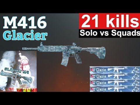 21 Kills Pubg Mobile Glacier M416 Youtube Mobile Skin Mobile Phone Game Mobile Generator