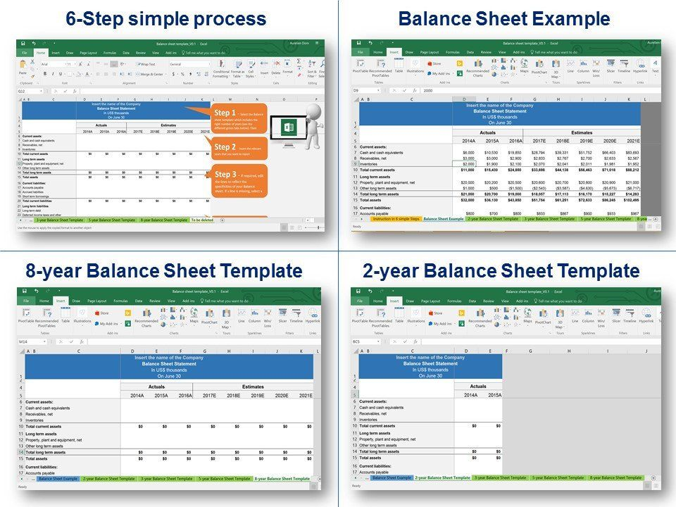 simple balance sheet template in excel