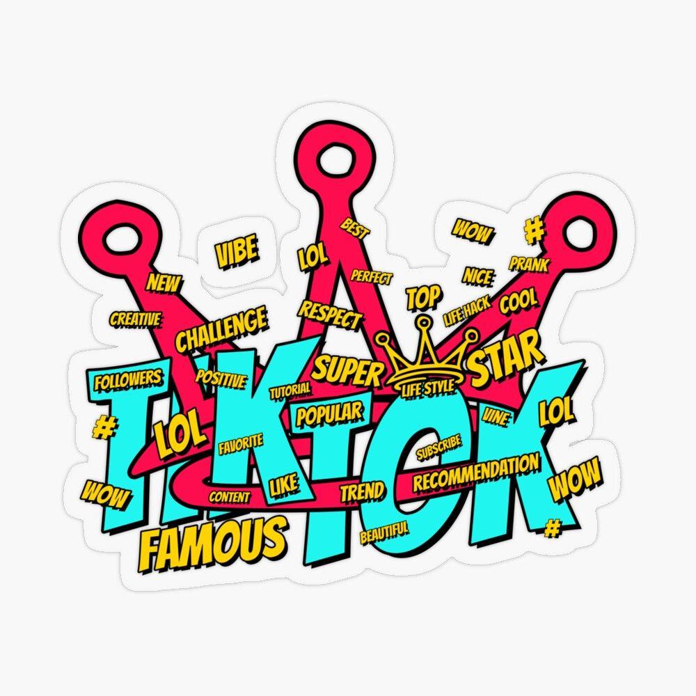 Tik Tok Famous Tiktok Tiktoker Blogger Sticker By Yarchy Famous Creative Challenge Transparent Stickers