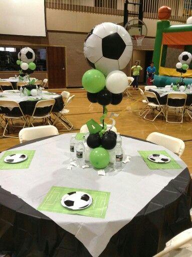 Soccer balloons pinterest party