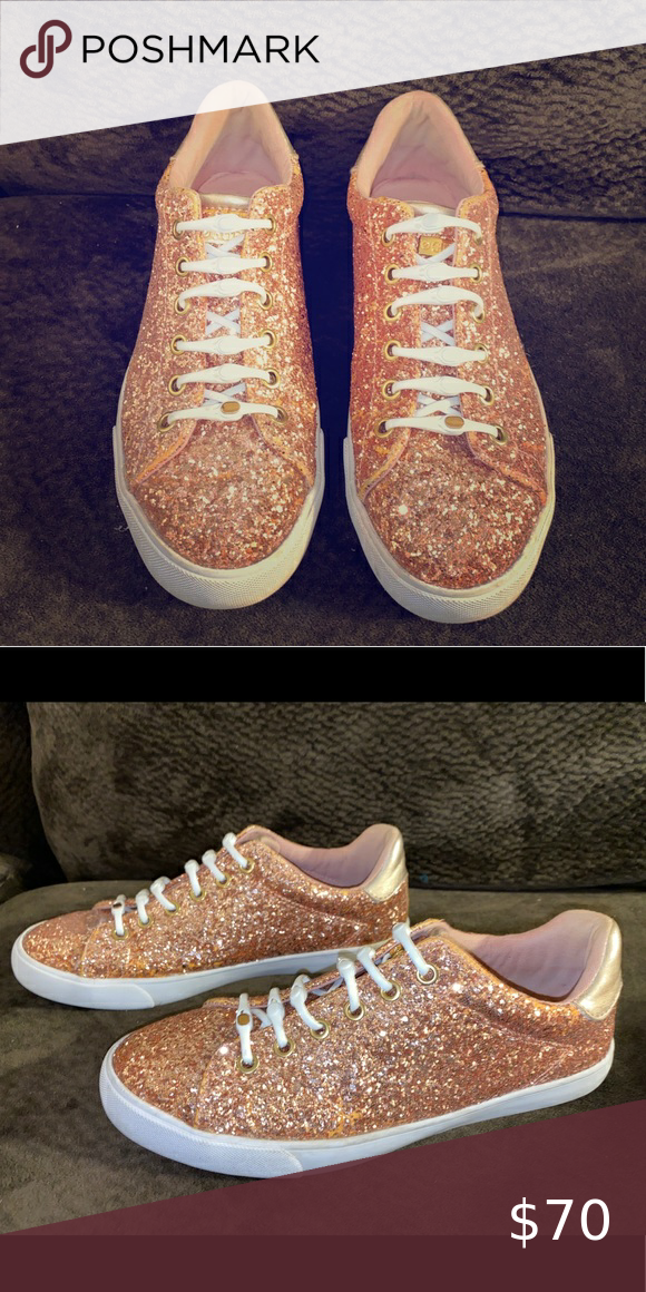 Rose Gold Guess Sneakers Size 8 in 2020