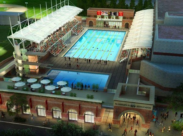 Usc aquatics center redesign arch athletics usc - John martinez school new haven swimming pool ...