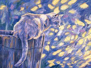 Cat Painting - Hemingway Cat by Lucie Bilodeau