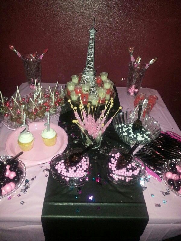 My daughter   candy table at her st birthday party also setup planning entertaining rh pinterest