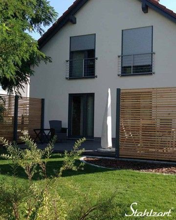 Sichtschutz Terrasse Garten Holz Metall modern · Secret 4