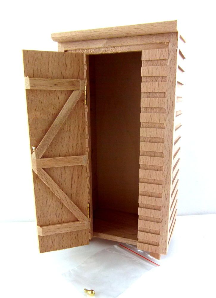 Dolls House Miniature 1 12 Unfinished Natural Wooden Small Garden