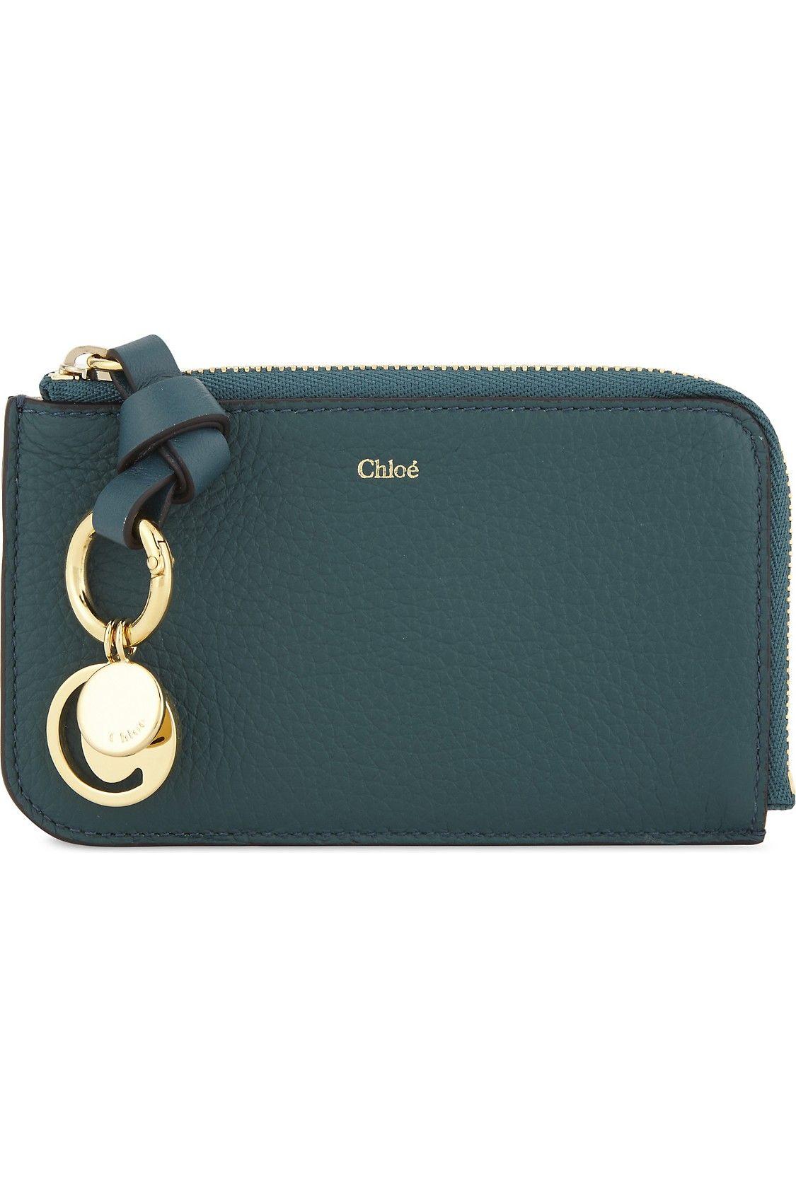 chloe abc grained leather card holder selfridgescom - Chloe Card Holder