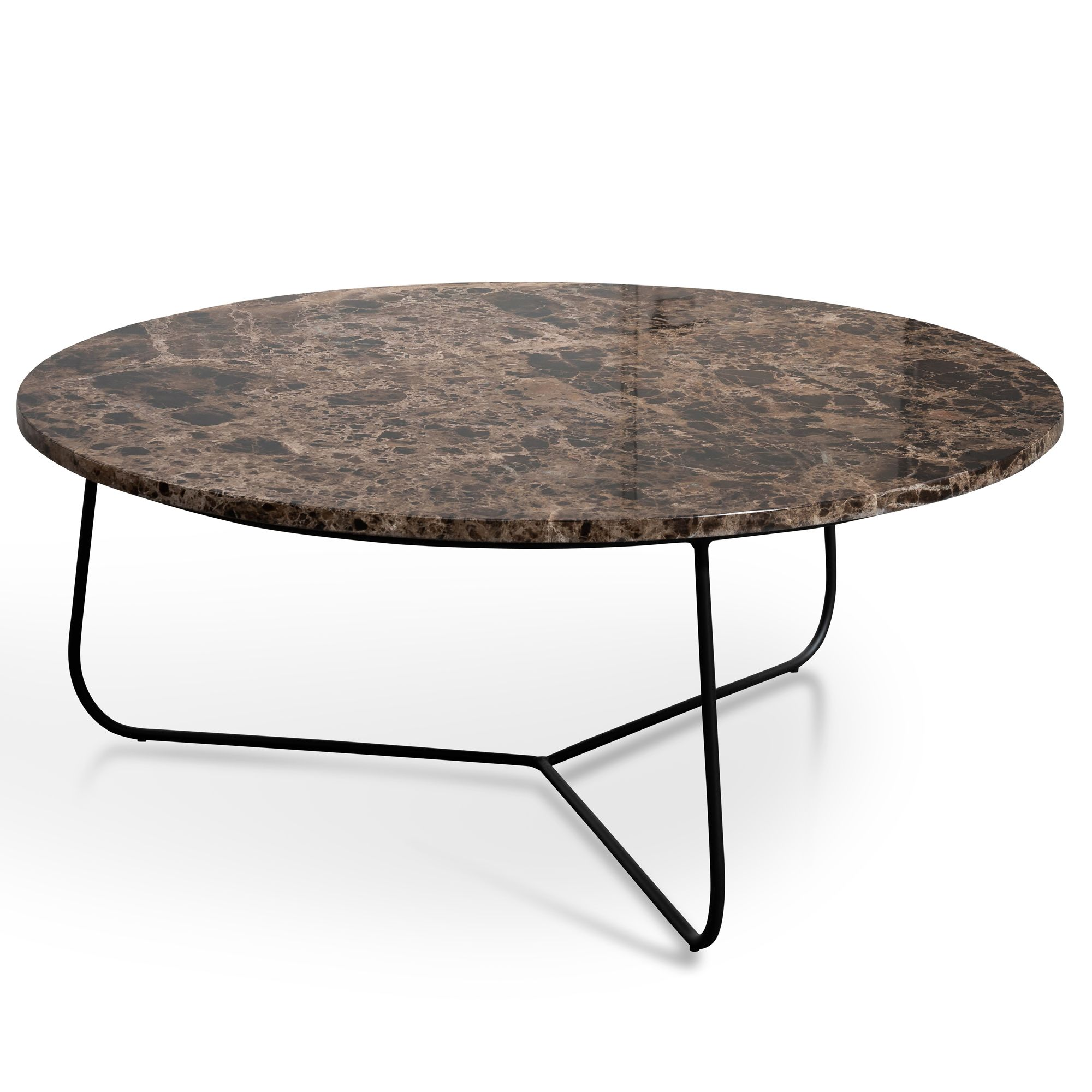 The Glacier Brown Marble Coffee Table Showcases The Understated