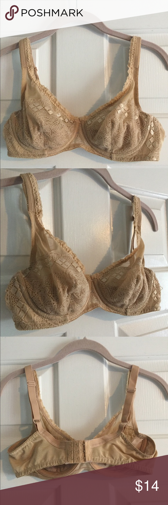 781cd099fe153 Barely Breezies Full Coverage Bra Gently used Barely Breezies beige  Underwire Full Coverage see through bra size 34B. Barely Breezies Intimates    Sleepwear ...