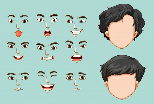 Anime Faces Different Expressions Emotions Chibi How To Draw