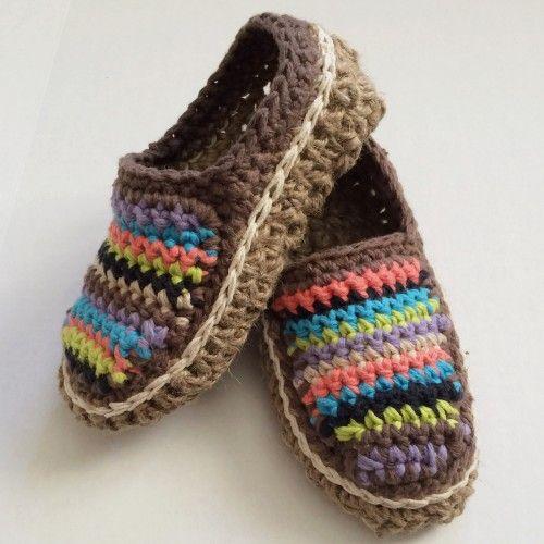 Striped Moccasins - Free Pattern (Crochet For Children) | Stricken ...
