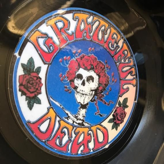 Record Bowl - Classic Rock 12 Vinyl - Vintage 70's Rock Vinyl Collectible - Grateful Dead Logo 12 #pictureplacemeant