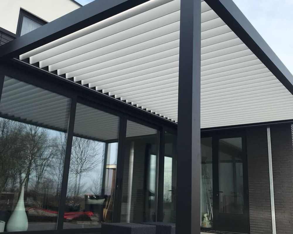 Automatic Retractable Glass Roof Systems Aluminum Awnings