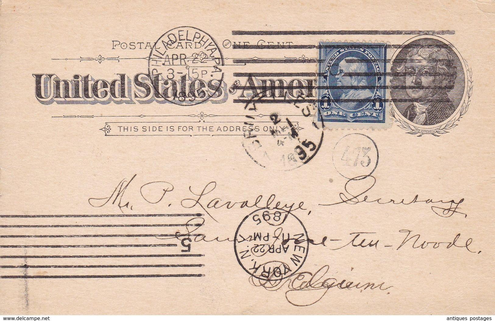 Carte USA 1895 State Board Of Health And Vital Statistics