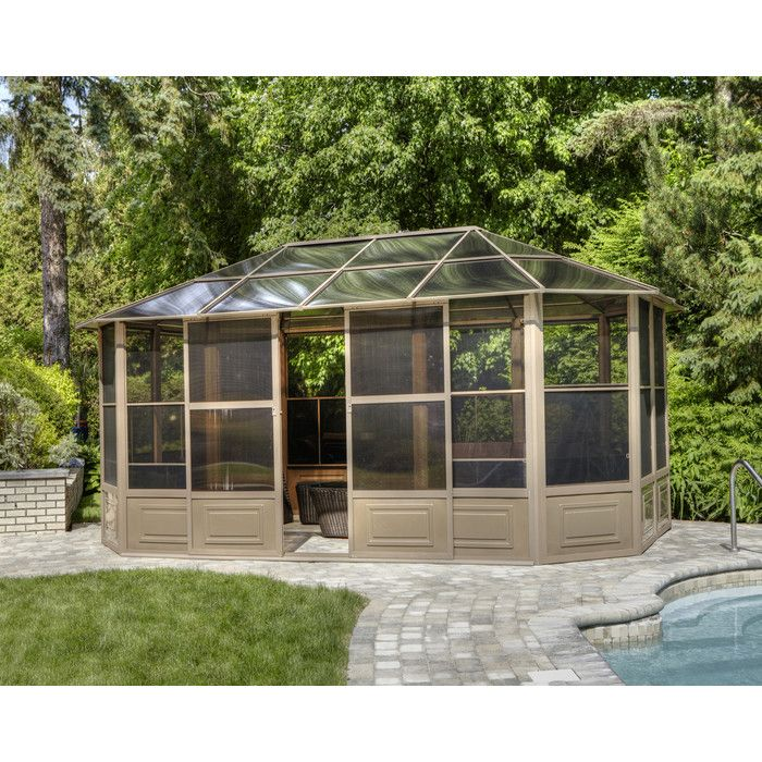 You'll love the 16 Ft. W x 8 Ft. D Metal Patio Gazebo at Wayfair - Great Deals on all Outdoor  products with Free Shipping on most stuff, even the big stuff.
