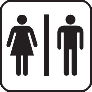 Beau Men Women Bathroom Clip Art